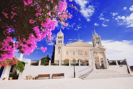 Church of Agia Triada, Lefkes, Paros island, Greece