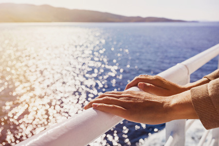 Travel on the sailing boat, travel and active lifestyle concept Stock Photo