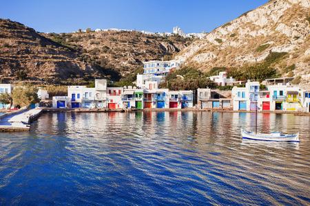 Beautiful Klima village, Milos island, Cyclades, Greece