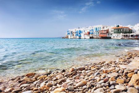 Famous Mykonos town, Cyclades, Greece Stock Photo