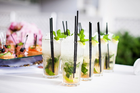 Cocktails on the table Stock Photo