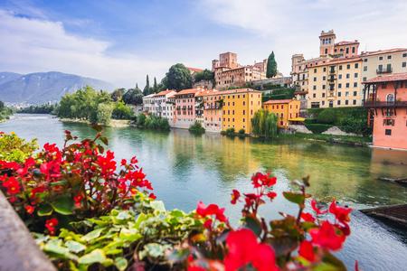 View of Bassano del Grappa, Veneto region, Italy. Popular travel destination Stock Photo