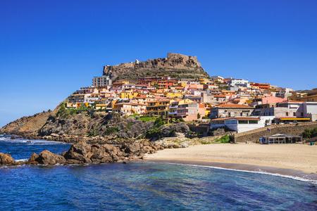 View of Castelsardo town, Sardinia island, Italy. Popular travel destination