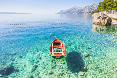 Beautiful bay near Brela town, Makarska riviera, Dalmatia, Croatia