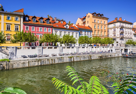 View of Ljubljana town, capital of Slovenia. Famous Slovenian tourist destination