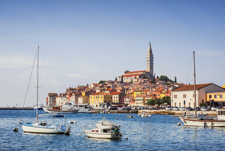 View of the Rovinj (Rovigno)  town, Istria, Croatia