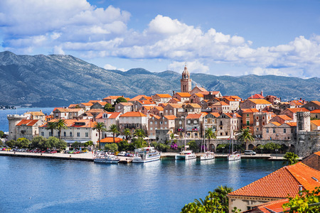 View of the Korcula town, Korcula island, Dalmatia, Croatia Stock fotó