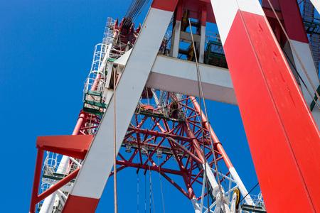 heavy: Heavy duty offshore crane Stock Photo