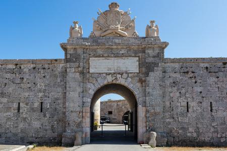Front entrance of Mediterranean fort