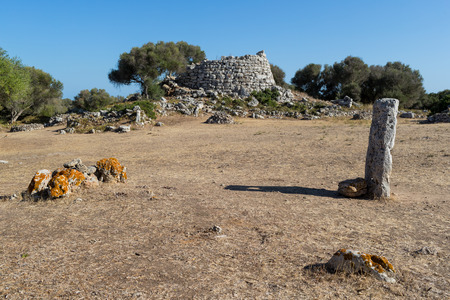baleares: Prehistoric ruins of an ancient Minorcan village Stock Photo