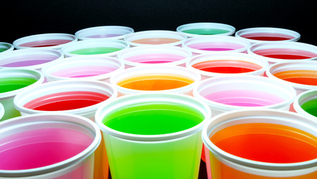 ful: color ful in white plastic cups