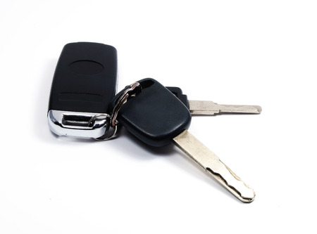 car keys with anti thief Standard-Bild