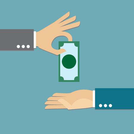 dare soldi: Dare soldi Vettoriali