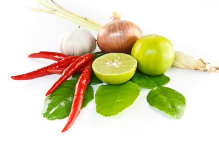 Asian hot and spicy ingredients food