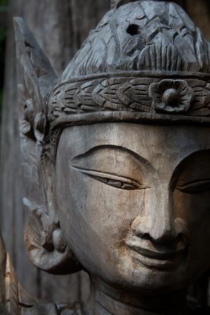 sculpt: Thai angle face Stock Photo
