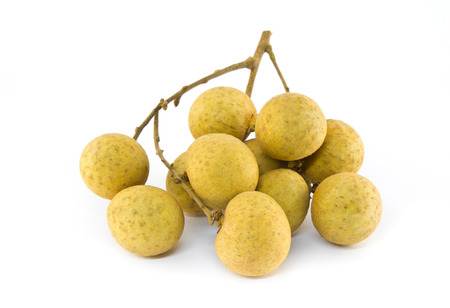 Longan on white background Stock Photo