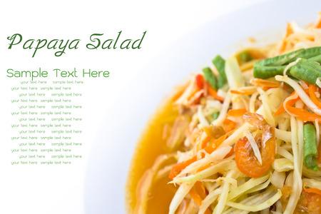 green papaya salad: spicy green papaya salad, Thai cuisine Stock Photo