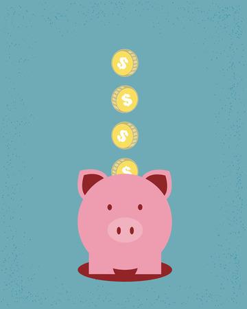 gain money: Économiser de l'argent  Illustration