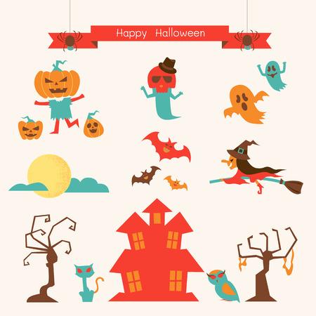 ghost house: Halloween Illustration