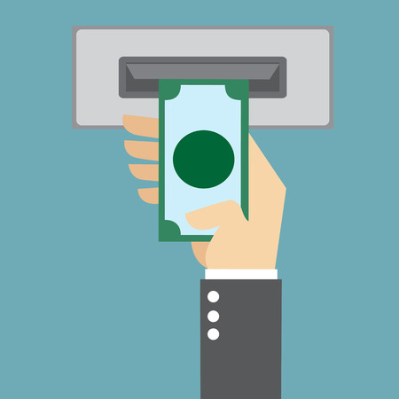 ATM, Money withdrawal Illustration