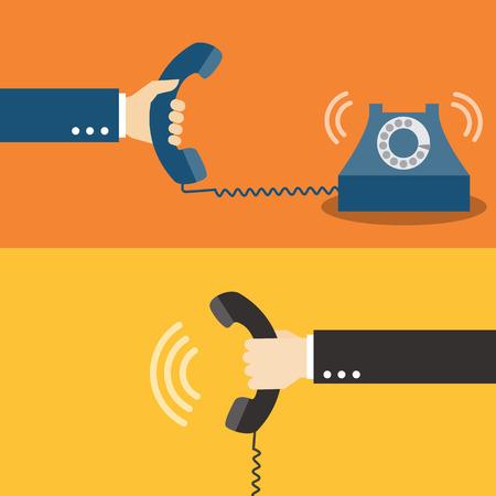 Hand houden van een telefoon