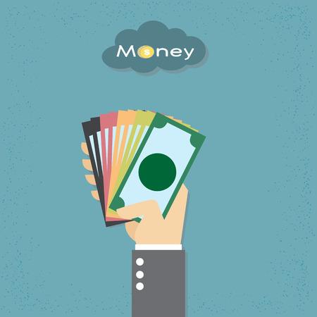 Hand geven van geld