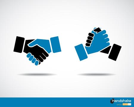 respeto: Apret�n de manos icono Vectores