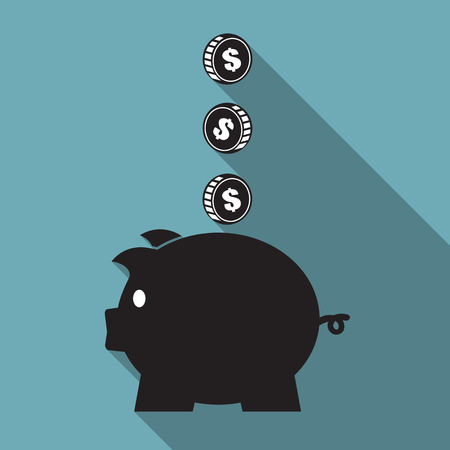 Piggy bank icon in Saving money concept 向量圖像