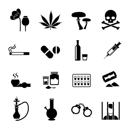 illegal substance: Narcotic drugs icon Illustration