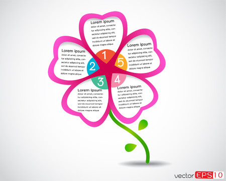 Flower business presentation modern design template