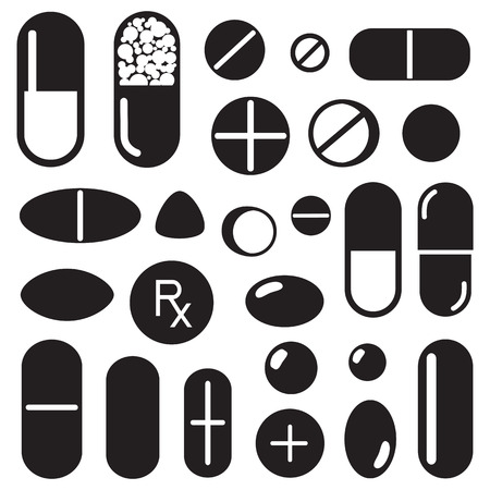 pharmacy pills: Pills and capsules icon