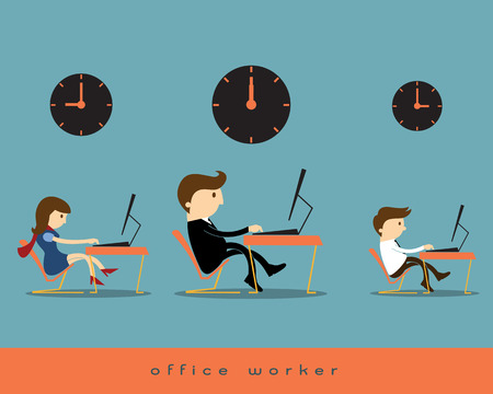 office chair: Office worker Illustration