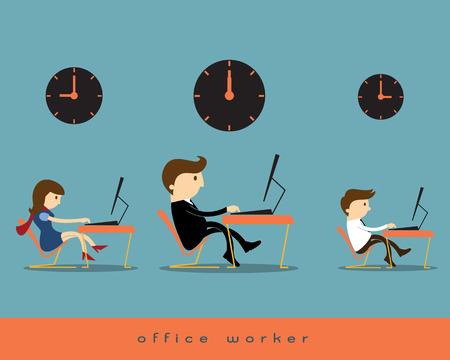 mujer trabajadora: Oficina trabajador
