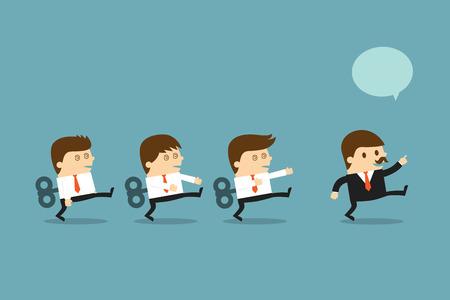Businessmen with windup key  イラスト・ベクター素材