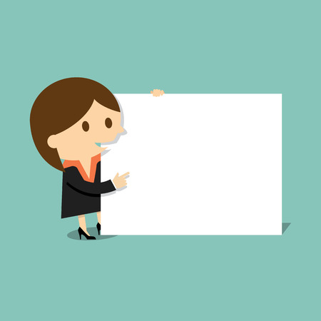advertising woman: Businesswoman with blank paper