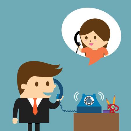 Homme d'affaires parlant dans un téléphone Banque d'images - 40605971