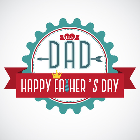 Day label Happy Father's