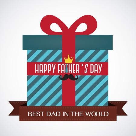 Gelukkige Vaderdag - Gift voor Papa Stockfoto - 45896648