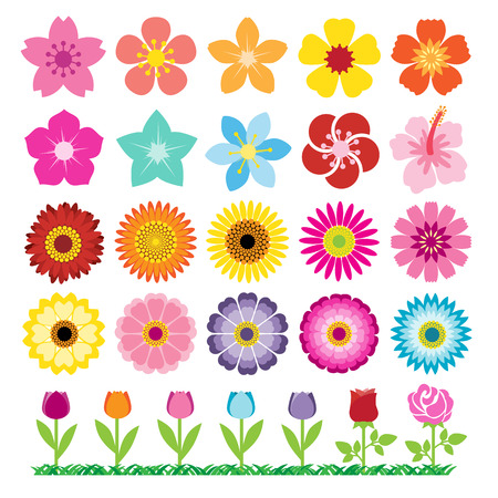 Set of Flowers Icons
