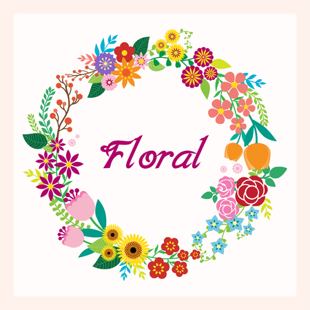 Greeting card with flowers Ilustrace