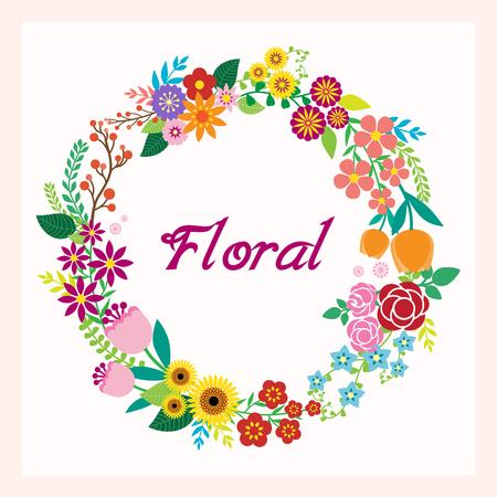 Wens kaart met bloemen Stock Illustratie