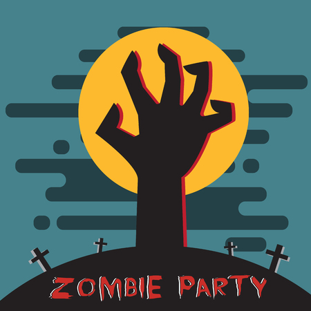 Zombie party 向量圖像