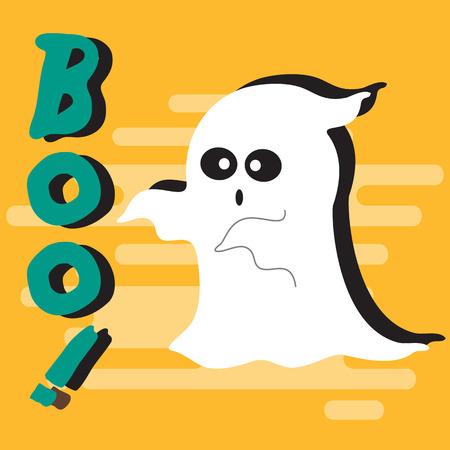 Halloween Ghost achtergrond Stockfoto - 45896670