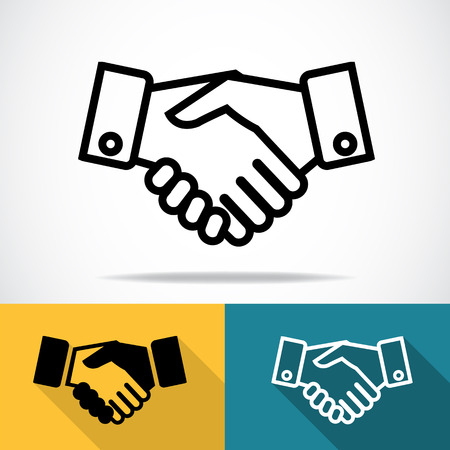 hands together: Handshake icon Illustration