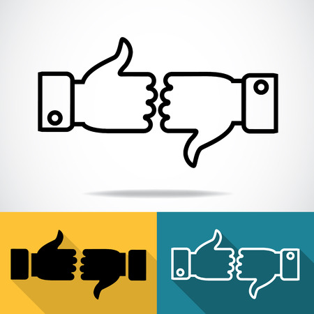 thumbs down: thumbs up and thumbs down icons