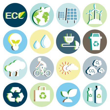 Ecologie papier icoon Stock Illustratie