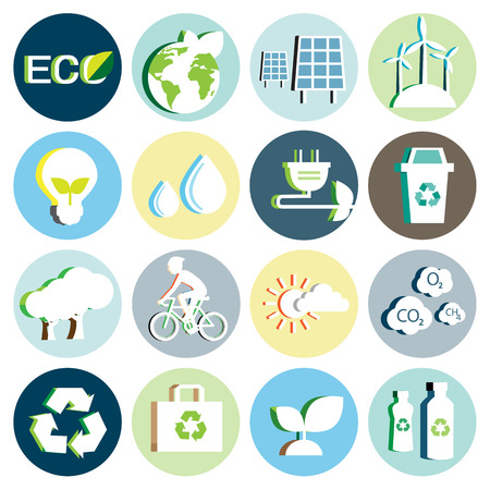 bicycle icon: Ecology paper icon Illustration