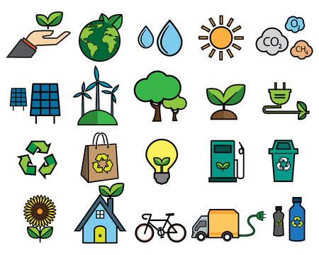 Ecologie pictogram Stockfoto - 47070303