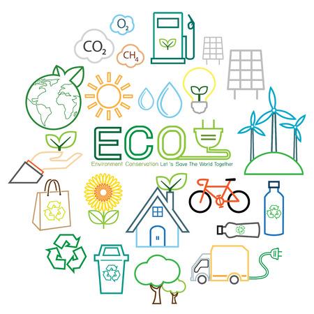 Ecologie lijn icoon