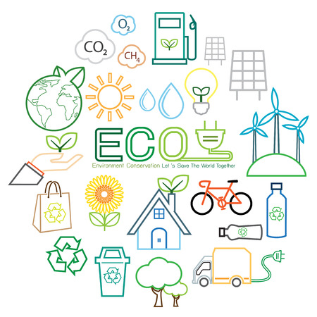 Ecologie lijn icoon Stockfoto - 47070306